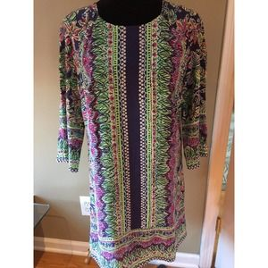 Lilly Pulitzer Dress Silk Lined Floral Multi  6